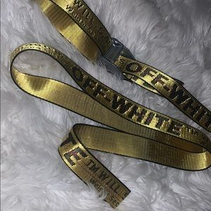 Off-White yellow utility adjustable belt
